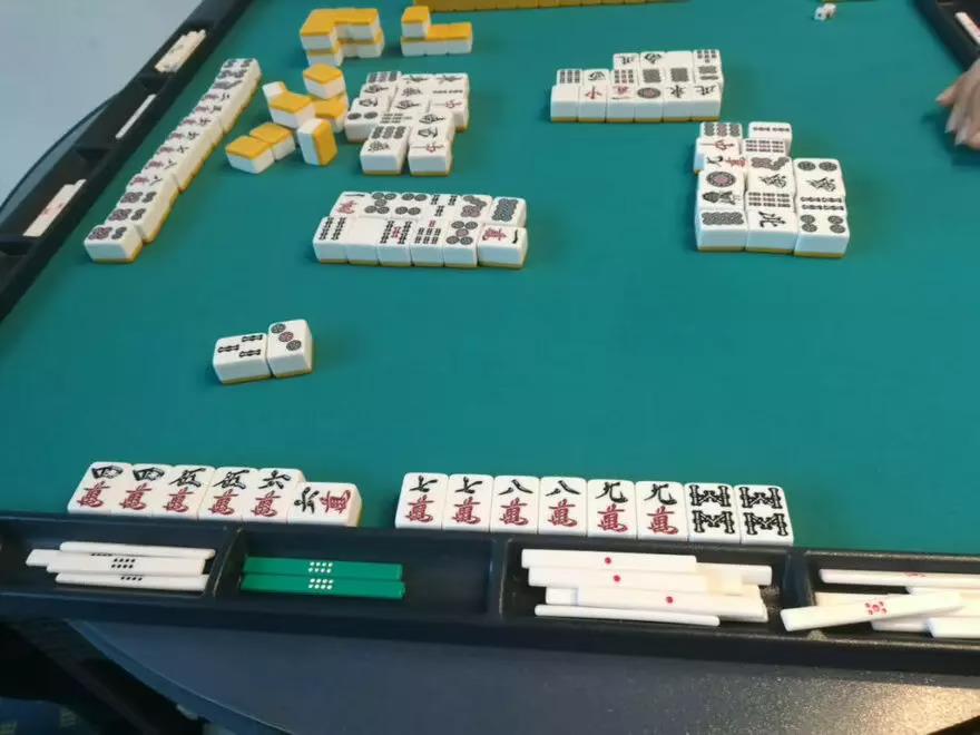 Mahjong Tiles: 四四五五六七七八八九九88六 — 44556778899m88s6m — riichi ippatsu tsumo pinfu ryanpeikou (Haneman)